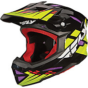 Fly Racing Default Youth Helmet - Black-Lime-Purple 2013